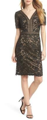 Tadashi Shoji V-Neck Lace Sheath Dress