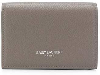 Saint Laurent logo print wallet