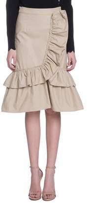 ENGLISH FACTORY Camel Ruffle Skirt