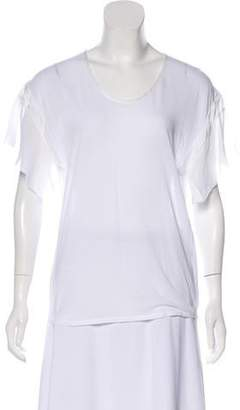 Pas De Calais Short Sleeve Crew Neck Top