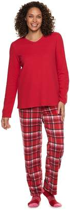 Croft & Barrow Petite Fleece 3-piece Pajama Set