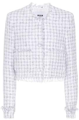 MSGM Tweed cotton-blend cardigan