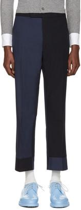 Thom Browne Navy Classic Funmix Trompe l'Oeil Backstrap Trousers $1,450 thestylecure.com