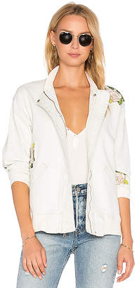 Hudson Jeans Varsity Embroidered Jacket $275 thestylecure.com