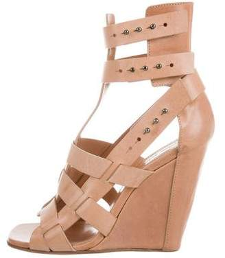 Rick Owens Leather Cage Wedge Sandals w/ Tags