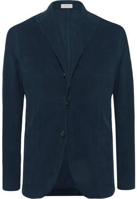 Boglioli Midnight-Blue Slim-Fit Unstructured Stretch-Cotton Corduroy Suit Jacket