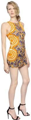 Embellished Organza Open Back Dress