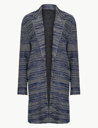 Marks and Spencer Textured Unlined Tweed Cardi Coat