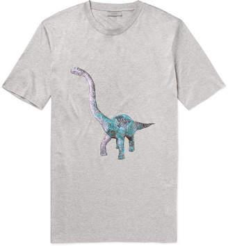 Lanvin Dinosaur-Print Mélange Cotton-Jersey T-Shirt