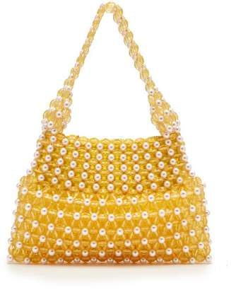 Shrimps - Quinn Faux Pearl And Bead Embellished Bag - Womens - Yellow Multi