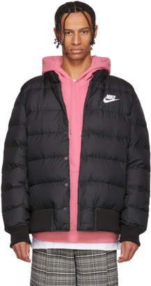 Nike Black Down Lightweight Bomber Jacket