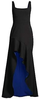 BCBGMAXAZRIA Women's Asymmetric High-Low Stretch Crepe de Chine Gown - Size 0