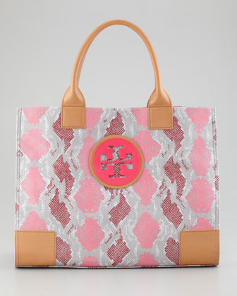 Tory Burch Ella Large Tote Bag, Carnation Red