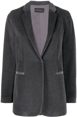 Fabiana Filippi concealed front blazer