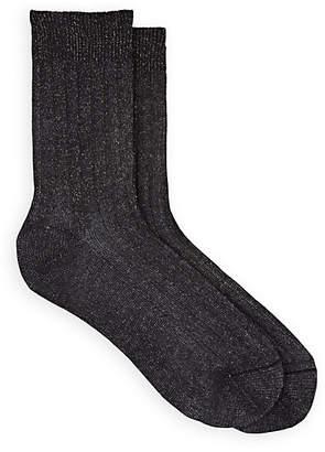 Maria La Rosa Women's Cotton-Blend Mid-Calf Socks - Black