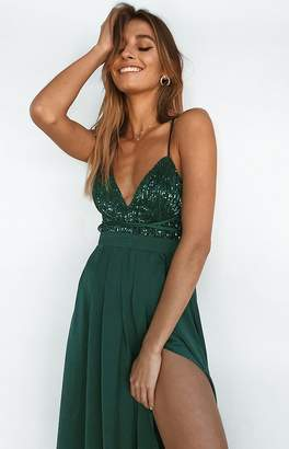 Beginning Boutique Patrice Formal Dress Emerald