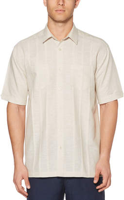 Cubavera Big & Tall Cross Dye Tuck Embroidered Shirt