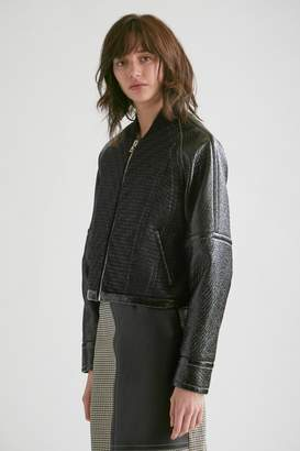 Yigal Azrouel Laminated Tweed Bomber Jacket