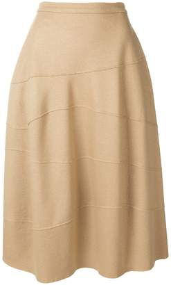 Jil Sander raised seam midi skirt