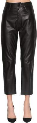 Drome High Waist Straight Leg Leather Pants
