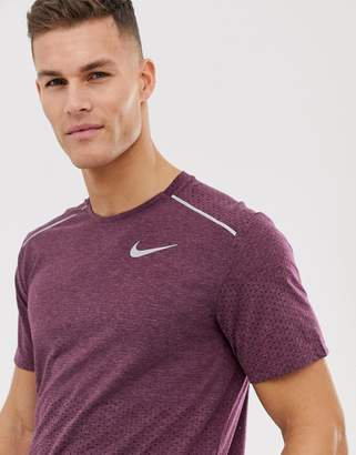 bfbfb24732f82 Nike Running Rise 365 t-shirt in burgundy
