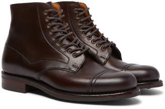 Cheaney Jarrow Cap-Toe Leather Boots