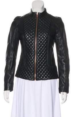 Ted Baker Long Sleeve Leather Jacket