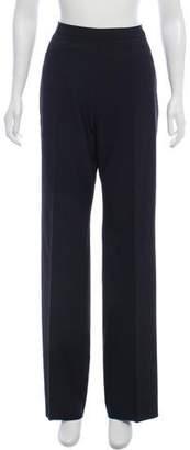 Saint Laurent Mid-Rise Wide-Leg Pants