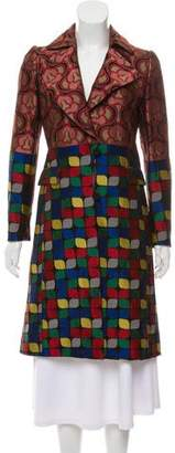 Dries Van Noten Patterned Knee-Length Coat