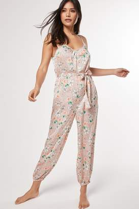 Next Womens Pink Floral Jumpsuit - Pink