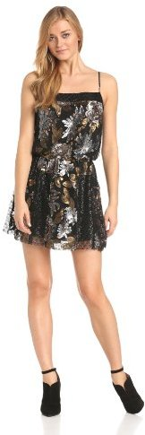 Anna Sui Women's Nuits De Paris Sequin Mesh-and-Lace Dress