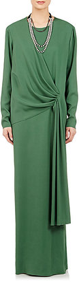 Lanvin Women's Drape-Detailed Crepe Gown $3,280 thestylecure.com