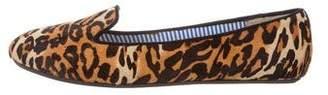 Charles Philip Shanghai Ponyhair Leopard Print Loafers