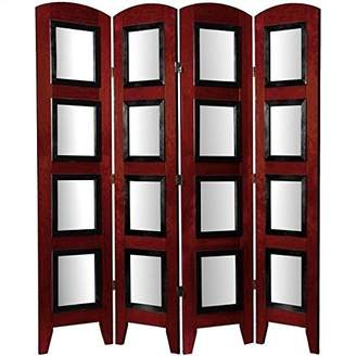 Oriental Furniture Unique Father's Day Gift Idea, 5.5-Feet Photo Screen Room Divider with 8 by 10-Inch Pic Frames, 4 Pnl