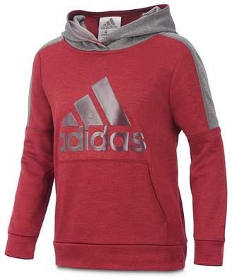 adidas Boys' Fleece Logo Hoodie - Little Kid