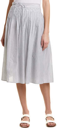 Vince Skinny Stripe Wrap Skirt