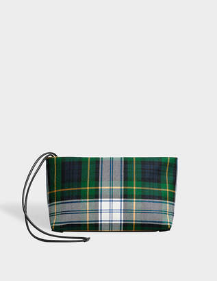 Burberry Tartan Cotton Clutch Bag in Ink Blue and Yellow Cotton