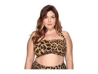 Lauren Ralph Lauren Plus Size Leopard Retro Halter Women's Swimwear