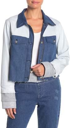 KENDALL + KYLIE Kendall & Kylie Colorblock Denim Jacket