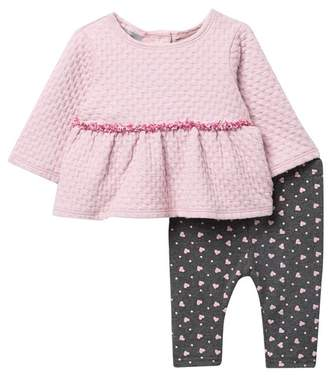 Pippa Pastourelle by and Julie Textured Knit Tunic & Heart Leggings Set (Baby Girls)