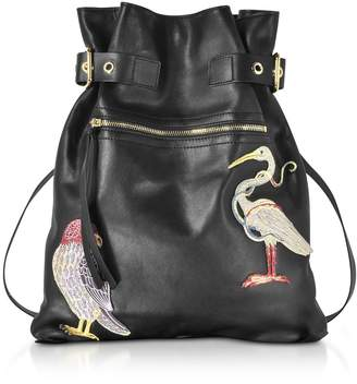 RED Valentino Embroidered Leather Backpack