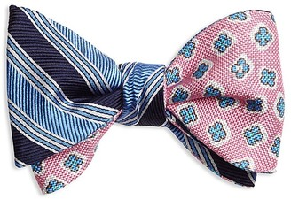 Brooks Brothers Double-Sided Stripe/Flower Self-Tie Bow Tie $69.50 thestylecure.com