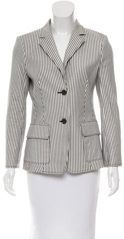 Tory BurchTory Burch Striped Button-Up Blazer