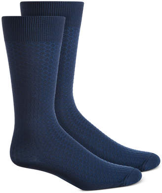 Perry Ellis Men Textured Honeycomb Socks