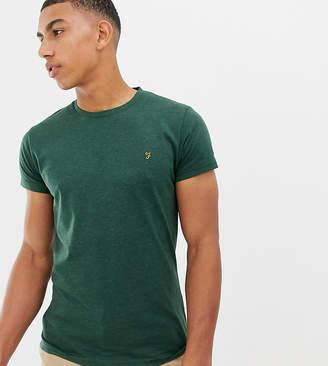 Farah Twisted Yarn Marl T-Shirt in Green