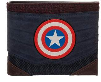 Bioworld Merchandising / Independent Sales Captain America Chrome Weld Patch Bi-fold Wallet