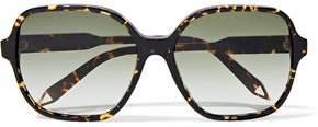 Victoria Beckham Iconic Square-Frame Tortoiseshell Acetate And Gold-Tone Sunglasses