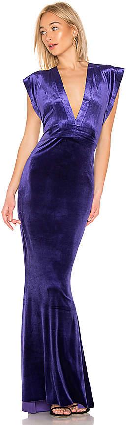 Rectangle Velvet Gown
