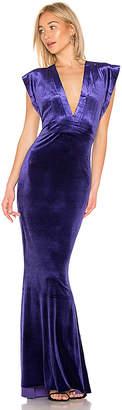 Norma Kamali Rectangle Velvet Gown