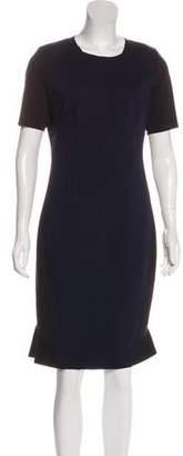 Tahari Two-Tone Midi Dress